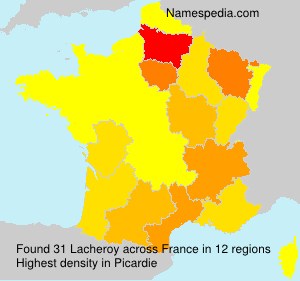 Surname Lacheroy in France