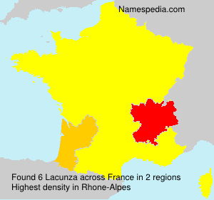 Surname Lacunza in France