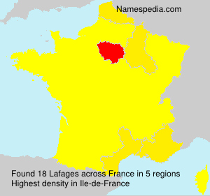 Surname Lafages in France