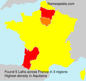 Surname Lafra in France