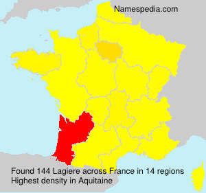 Surname Lagiere in France