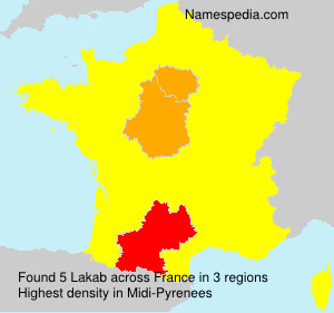 Surname Lakab in France