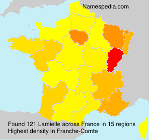 Surname Lamielle in France