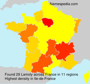 Surname Lamoly in France