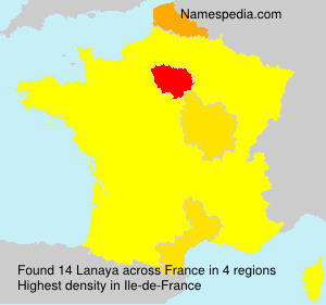Surname Lanaya in France