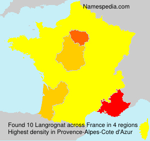 Surname Langrognat in France