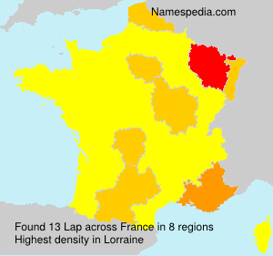 Surname Lap in France