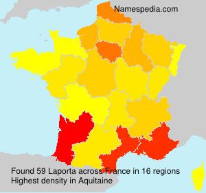Surname Laporta in France