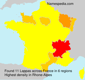 Surname Lappas in France