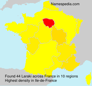 Surname Laraki in France