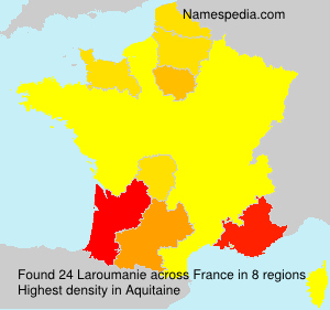 Surname Laroumanie in France