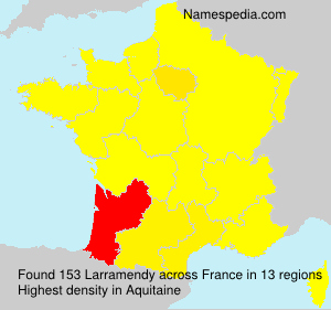 Surname Larramendy in France