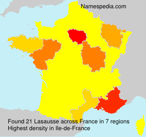 Surname Lasausse in France
