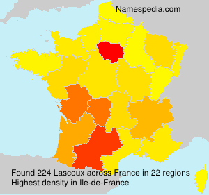 Surname Lascoux in France