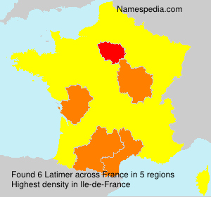 Surname Latimer in France