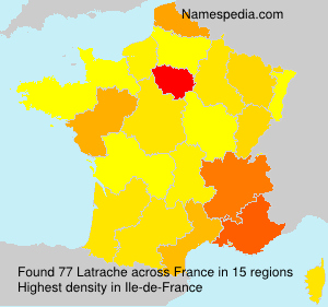 Surname Latrache in France