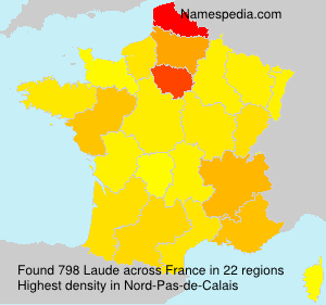 Surname Laude in France