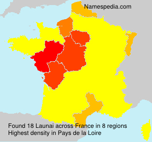 Surname Launai in France