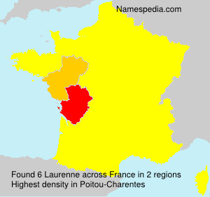 Surname Laurenne in France