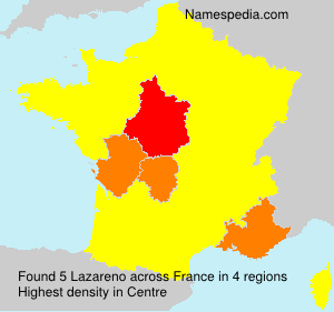 Surname Lazareno in France