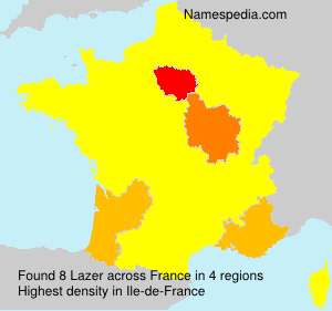 Surname Lazer in France