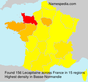 Surname Lecapitaine in France