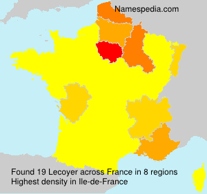 Surname Lecoyer in France