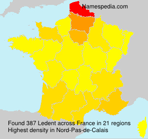 Surname Ledent in France