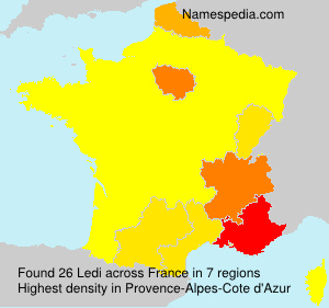 Surname Ledi in France