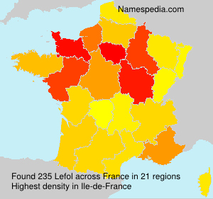 Surname Lefol in France