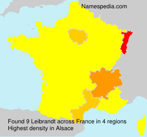 Surname Leibrandt in France
