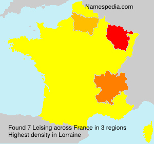 Surname Leising in France