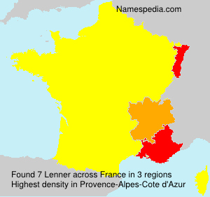 Surname Lenner in France