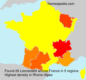 Surname Leonardelli in France