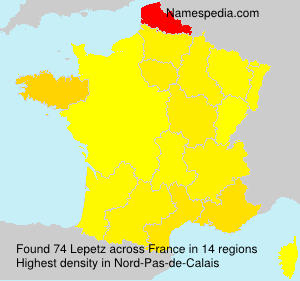 Surname Lepetz in France