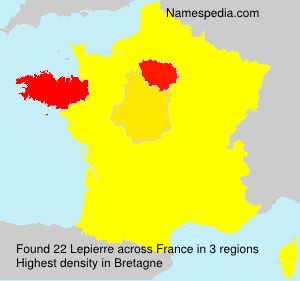 Surname Lepierre in France