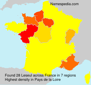 Surname Leseul in France