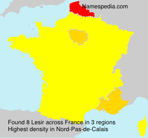 Surname Lesir in France