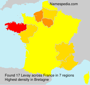 Surname Levay in France