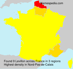 Surname Levillon in France