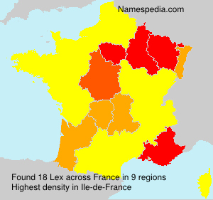 Surname Lex in France