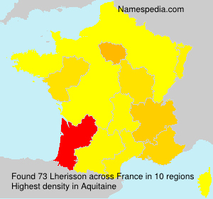 Surname Lherisson in France
