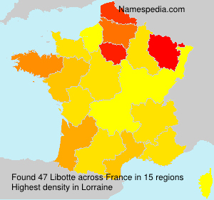 Surname Libotte in France