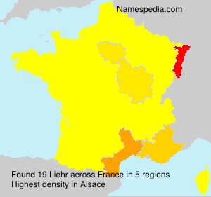 Surname Liehr in France