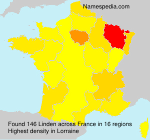 Surname Linden in France