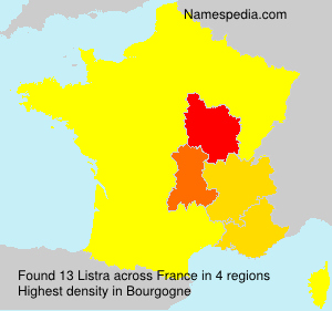 Surname Listra in France