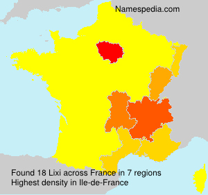 Surname Lixi in France