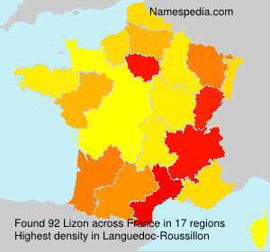 Surname Lizon in France