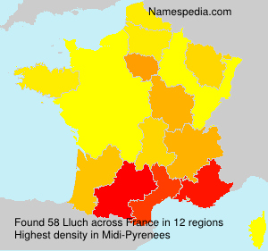 Surname Lluch in France