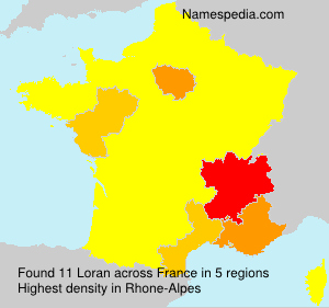 Surname Loran in France